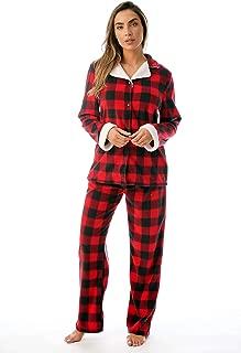 Cocoom Stretch Microfleece Pajama Pant Set for Women with Sherpa Trim