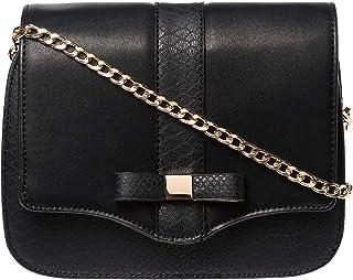 Yuejin Crossbody Bag for Women - Leather, Black