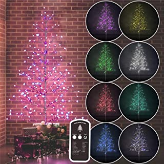 Amazing Seasons 7 Ft Bare Tree with 280 Multi-Color LED 52 Function Remote Indoor and Outdoor Decorations, Prelit Branches, Multicolor Lights