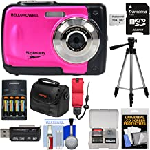 Bell & Howell Splash WP10 Shock & Waterproof Digital Camera (Pink) with 16GB Card + Batteries & Charger + Case + Tripod + Floating Strap + Reader Kit