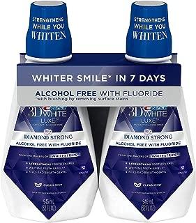 Crest 3D White Anticavity Fluoride Rinse, Clean Mint (32 fl. oz, 2 pk.) (pack of 2)