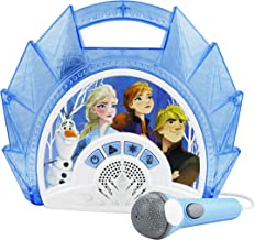 Frozen 2 Sing Along Boombox with Microphone, Built in Music, Flashing Lights, Real..