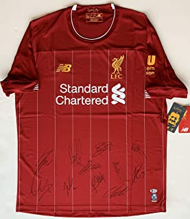 2019/2020 Liverpool FC Team Autographed Soccer Jersey. Signed at Private Signing. Beckett BAS +TAS COA.
