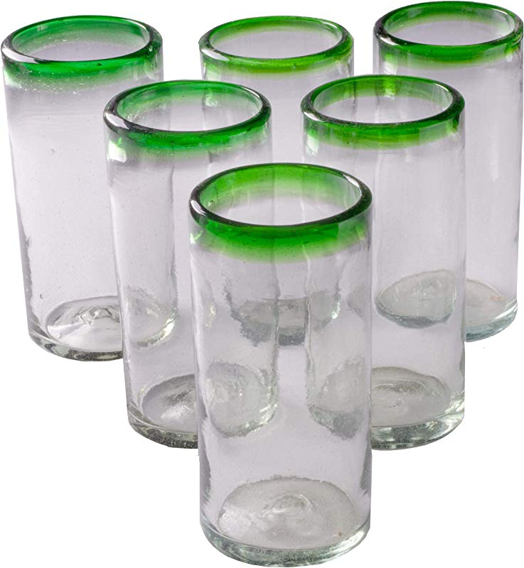 Orion Green Rim 22 Oz Tall Tumbler Set Of 6