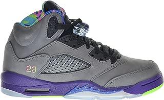 Jordan Air 5 Retro (GS) Bel Air Fresh Prince Big Kids Shoes Cool Grey/Club Pink-Court Purple-Game Royal 621959-090