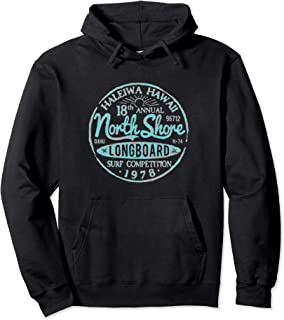 North Shore Long Board Surf Pullover Hoodie