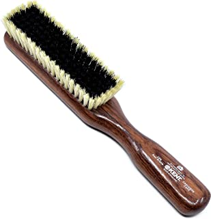 Kent CP6 Dark Wood Clothes Brush for Cashmere Care - Black and White Pure Bristles Garment Lint Remover