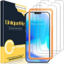 [3 Pack] UniqueMe Screen Protector for iPhone 12 Pro/iPhone 12 6.1 inch Tempered Glass 5G [Easy Installation Frame] HD Cle...