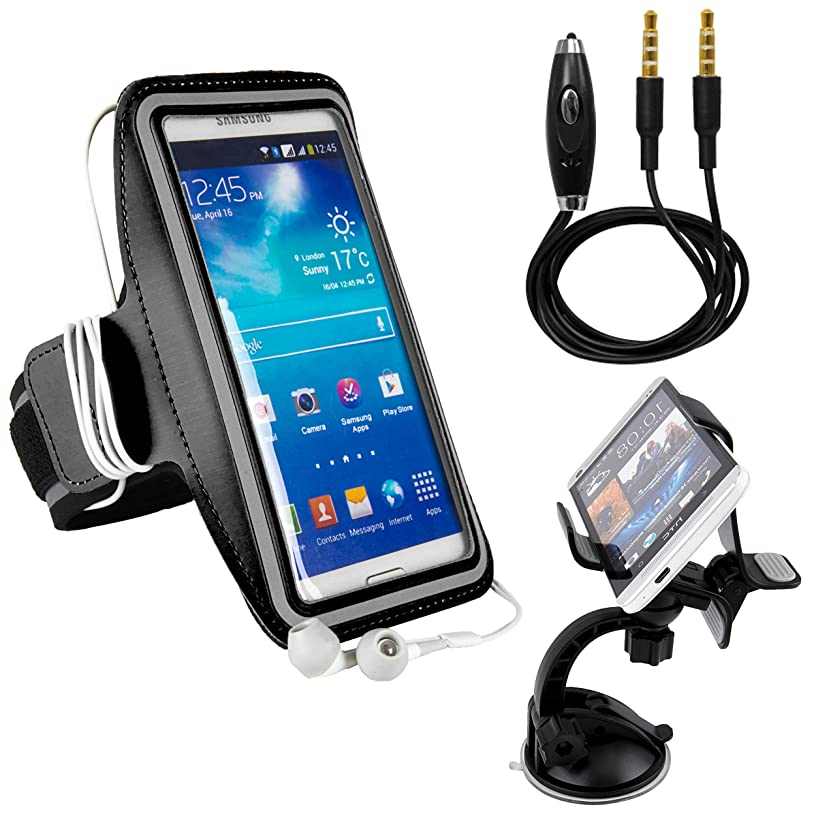 Extreme Sports Armband, Sportsband for Hiking, Running, Exercise, Cooking or Simply Listening to Music fits Samsung Galaxy J7 Prime/Z2/On7 Pro/On5 Pro/S7 Active/J5/A7 Black