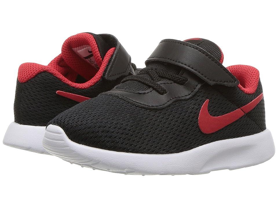 Nike Kids Tanjun (Infant/Toddler) (Black University Red/White) Boys Shoes