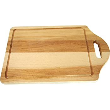 Tagliere da cucina, con foro per tenerlo appeso, in legno di faggio, 30,5x 20x 1,5cm