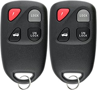KeylessOption Keyless Entry Remote Control Car Key Fob for KPU41805 Model 41805 Mazda 6 (Pack of 2)