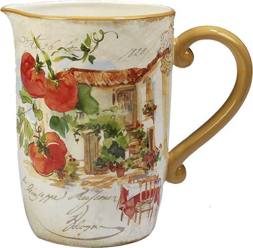 Certified International Corp 23674 Piazzette Pitcher 104 Oz Multicolor