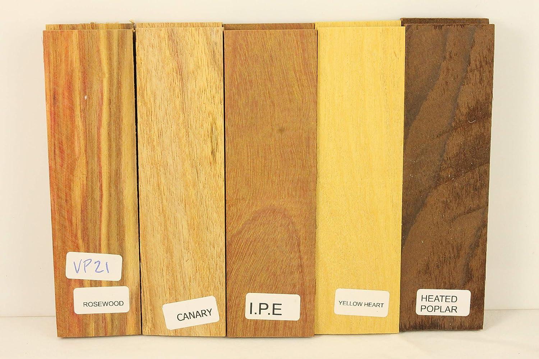 Variety Pack of 5 Wood Scales by Payne Bros