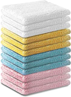 Ecolinen Bamboo Washcloths Towel Set 12 Pack Soft Baby Wash Cloth for Bathroom-Hotel-Spa-Kitchen Multi-Purpose Fingertip T...