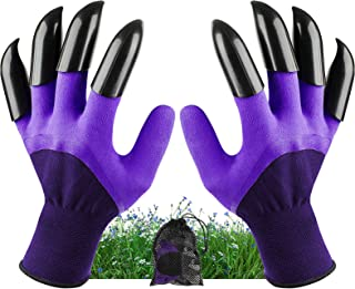 Garden Genie Gloves with Claws Waterproof Garden Gloves for Digging Planting Breathable Gardening Gloves for Yard Work