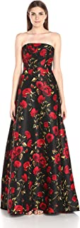 Women's Long Floral Printed Ball Gown