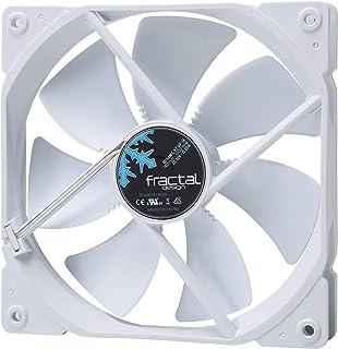 Fractal Design Dynamic X2 GP-12 PMW Ventilador de computadora - Optimizado para una Alta ventilación – 120 mm – 1200RPM – FDB-Rodamientos - Puntales con Forma aerodinámica - Negro/Blanco (Single)