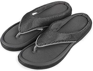 e6ad7f7c989 Amazon.com  Thong - Black   Slippers   Shoes  Clothing