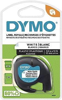 Dymo 91331 LetraTag Labeler Plastic Tape 12mm x 4M White