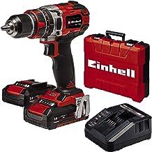 Einhell 4513940 Taladro percutor atornillador Inalámbrico de TE-CD 18/50 Li-i BL Power X-Change (Motor sin escobillas, control electrónico del par, Incluye 2 Baterías de 2,0 Ah PXC y Cargador rápido)