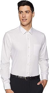 Arrow Men's Striped Slim Fit Formal Shirt, Light Brown