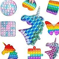 Pop it Pıtpıt Push Pop Bubble Özel Pop Zihinsel Duyusal Stres Rahatlatıcı Oyuncak Spia (Mavi Unicorn)