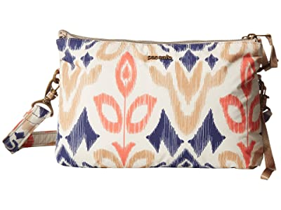 Pacsafe Stylesafe Anti-Theft Double Zip Crossbody (Ikat Coral) Handbags