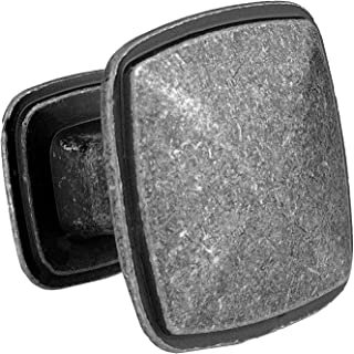 Iron Square Kitchen Cabinet Knobs - 10 Pack of Drawer Handles Hardware