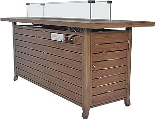 LEGACY HEATING CDFP-S-CBWOOD Aluminum fire Pit Table, Wood Brushed, Wood Brushed