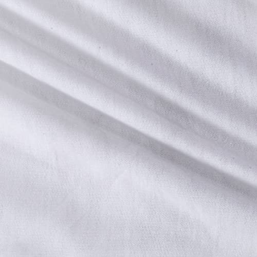 4f594ae5114 Lavitex 0451901 Soft Stretch Spun Poly/Spandex French Terry White Fabric by  The Yard