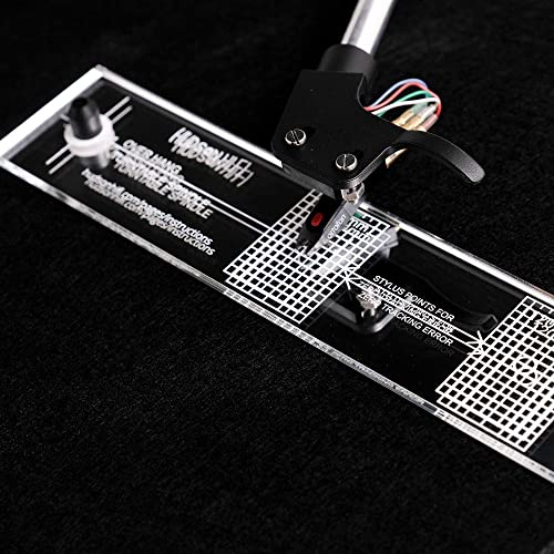 Turntable Phonograph LP Phono Cartridge Stylus Alignment Protractor Tool – Mirrored (VTA Sold Separately)