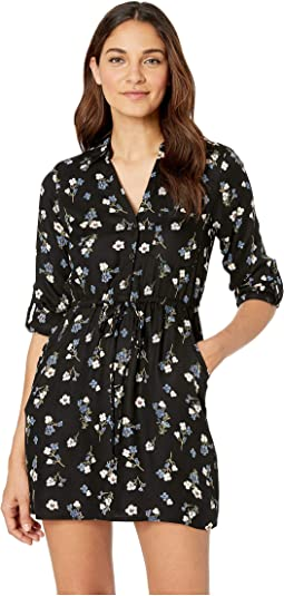 Floral Printed 3/4 Sleeve Dress