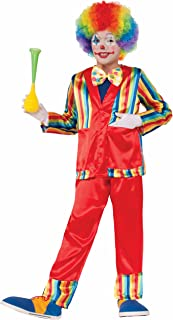 Forum Novelties 78580 Kids Funny Business Clown Costume, Large, Multicolor, Pack of 1