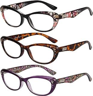 f763e90e10 Liansan Women s Designer Wayfarer Compact Cat Eye Retro Fashion Reading  Glasses 1.0 1.25 1 .5