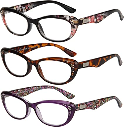 d51773c6c06c LianSan Womens Designer Wayfarer Compact Cat Eye Retro Fashion Reading  Glasses 1.0 1.25 1 .5