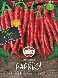 Sperli Premium Paprika Samen De Cayenne  scharfer, süßer, pikantes Peperoni Saatgut  Peperoni Samen