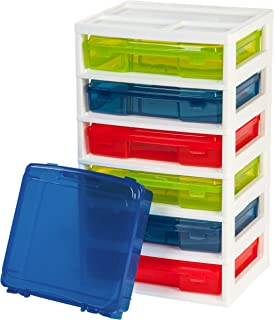 IRIS USA 6-Case Activity Chest with Organizer Top, Assorted Colors