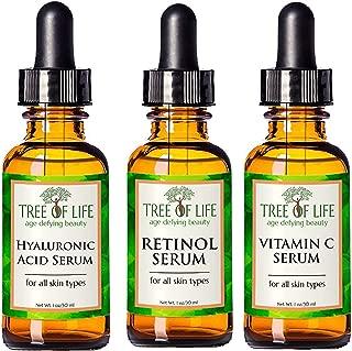 Anti Aging Serum 3-Pack for Face - Retinol Serum, Vitamin C Serum, Hyaluronic Acid Serum - Anti Aging Serum Full Regimen