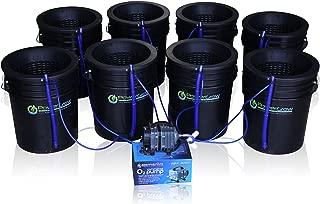 Deep Water Culture (DWC) Hydroponic Bubbler 8 Bucket Kit with 10