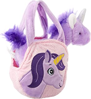 Unicorn & Bag Unicorn and Bag Toy, Purple, 16 Centimeters