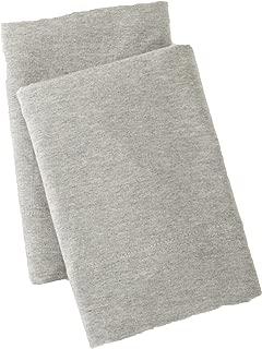 Jersey Knit Pillowcase. All Season, Soft, Cozy Cases. T-Shirt Jersey Cotton Standard Pillow Case Set. Heather Cotton Jersey Case Set. (Standard Pillowcases, Light Grey)