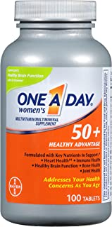 Bayer One-A-Day, Women's 50+, Healthy Advantage, Multivitamin/Multimineral Supplement, 100 Tablets