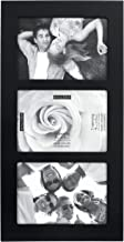 Malden 4x6 3-Opening Collage Picture Frame, Displays Three, Black