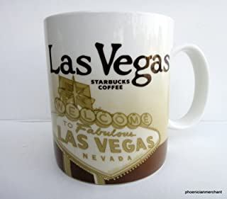 2009 Las Vegas Nevada Starbucks Icon Global Collector Series Coffee Tea Mug