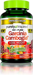 Garcinia Cambogia Weight Loss Gummies | Purely Inspired 100% Pure Garcinia Cambogia | Weight Loss for Women & Men | Weight...