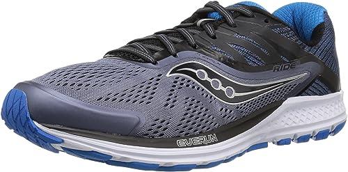 Saucony Men's Ride 10 Running chaussures, gris noir bleu, 9 Medium US