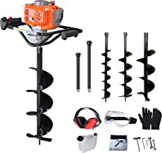 PROYAMA 51.7CC 2 Stroke Gas Post Hole Digger Earth Auger, Ground Drill with 3 bits (4