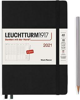 ロイヒトトゥルム 手帳 2021年 1月始まり A5 ウィークリー ブラック 362069