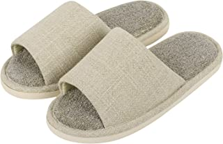 iloveSIA Men's Open Toe House Slippers with Memory Foam Casual Anti- Slip Home Shoes